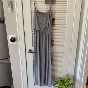 Mossimo (L) Grey T-shirt Maxi Dress with Lined Bra